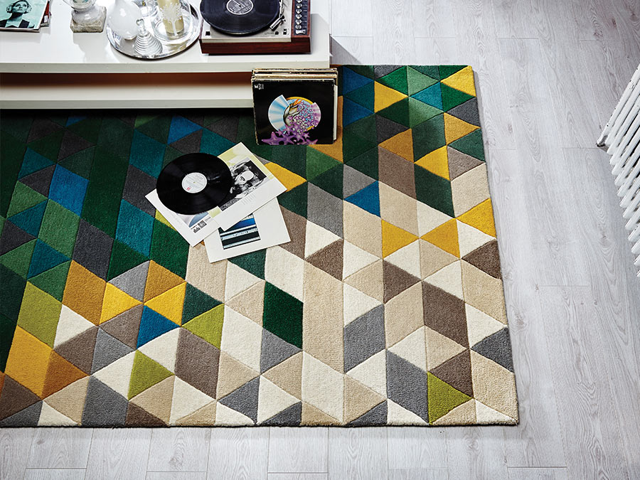 Illusion-Prism--Green-Rug