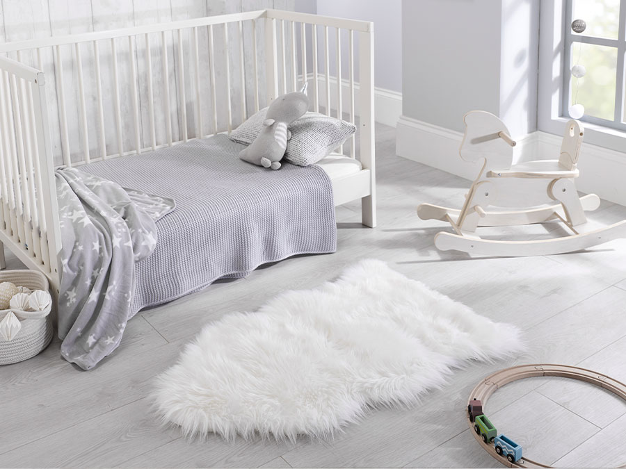 Faux Fur Shaped Ivory Flair Rugs