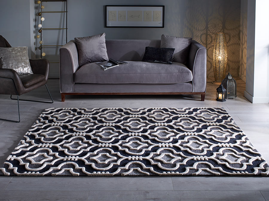 Moorish Amira Grey Rug