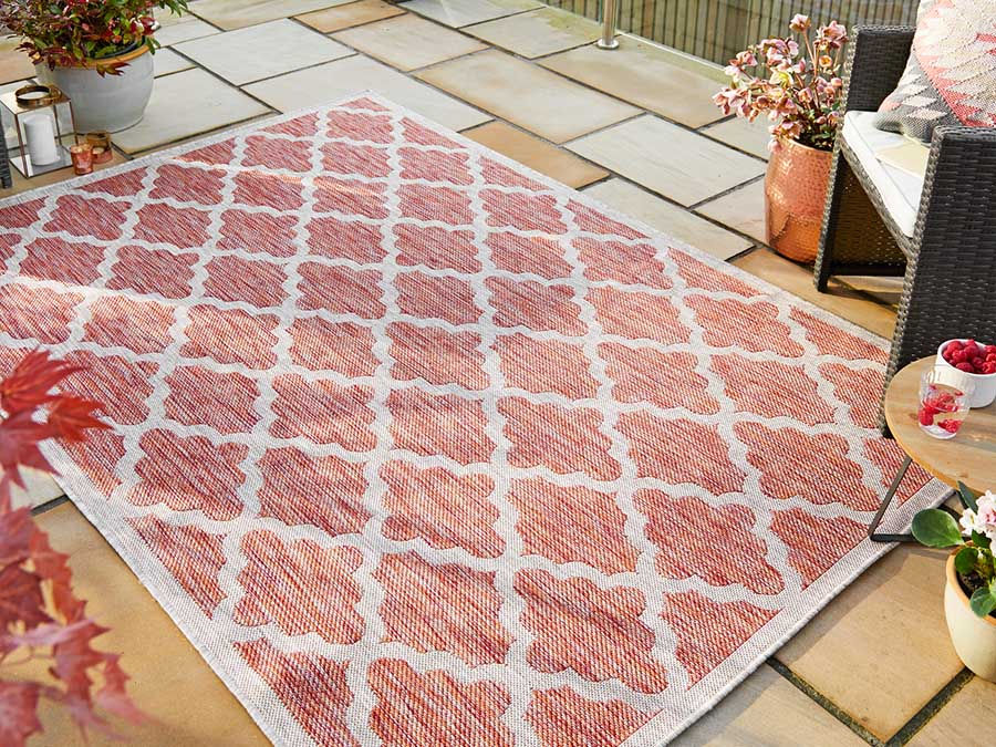 Indoor Outdoor Florence Alfresco Padua Red Rug