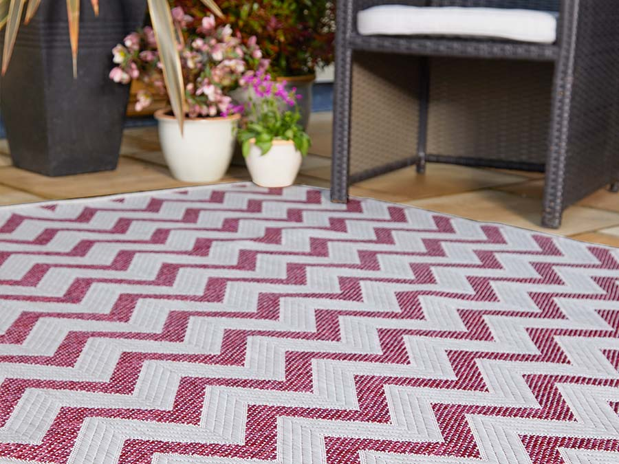 Indoor Outdoor Florence Alfresco Trieste Pink Rug