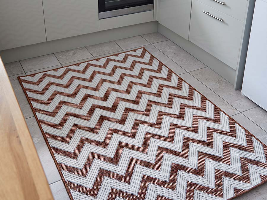 Indoor Outdoor Florence Alfresco Trieste Terracotta Rug