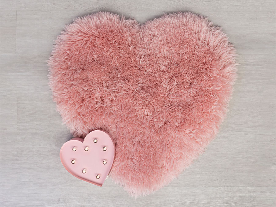 Sumptuous Hearts Pink Flair Rugs